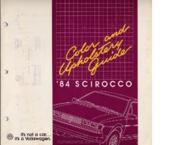 1984 VW Scirocco Colors