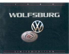 1984 VW Wolfsburg Editions