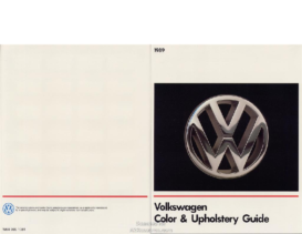 1989 VW Color & Upholstery Guide