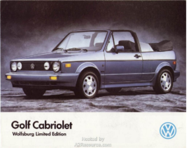 1989 VW Golf Cabriolet Wolfsburg Edition CN