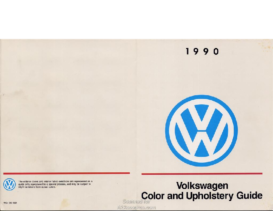 1990 VW Color & Upholstery Guide