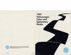 1991 VW Color & Upholstery Guide