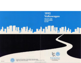 1992 VW Color & Upholstery Guide