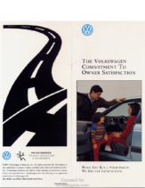 1992 VW Commitment to Owner Satisfaction