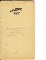 1916 National Highway Twelve Booklet