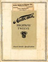 1919 National HIGHWAY TWELVE