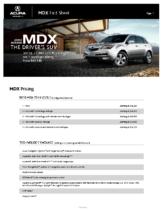 2010 Acura MDX Factsheet