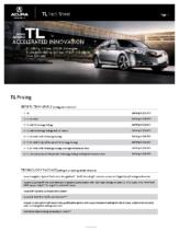2010 Acura TL Factsheet