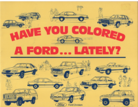 1984 Ford Coloring Book