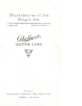 1921 Packard Single Six Illustrations Booklet