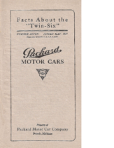 1921 Packard Twin Six Facts Booklet