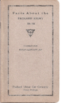 1925 Packard Eight Facts Book
