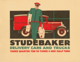 1929 Studebaker Delivery Vehicles