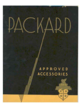 1931 Packard Accessories Booklet