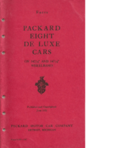 1932 Packard Eight Deluxe Facts Book