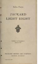 1932 Packard Light Eight Facts Book