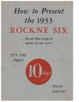 1933 Studebaker Rockne 6 Presentation Booklet