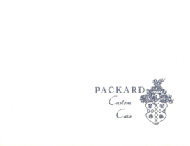 1934 Packard Custom Cars Booklet