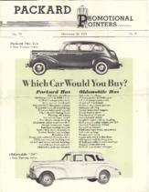1940 Packard Oldsmobile Comparison Folder