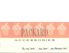 1951 Packard Accessories Booklet