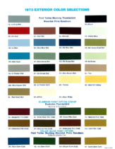 1973 Ford Color Chart
