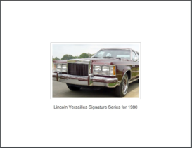 1980 Lincoln Versailles Signature Series