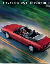 1991 Chevrolet Cavalier RS Convertible Foldout