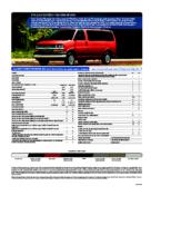 2010 Chevrolet Express Spec Sheet