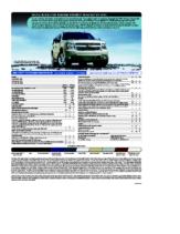 2010 Chevrolet Tahoe Spec Sheet