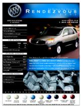 2002 Buick Rendezvous Spec Sheet