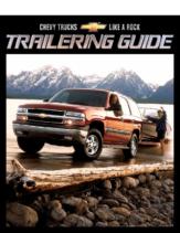 2002 Chevrolet Trailering Guide