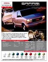 2002 GMC Safari Spec Sheet