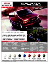 2002 GMC Savana Spec Sheet