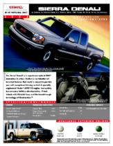2002 GMC Sierra Denali Spec Sheet