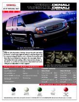 2002 GMC Yukon XL Denali Spec Sheet