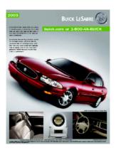 2003 Buick Lesabre Spec Sheet