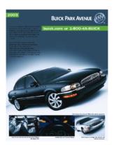 2003 Buick Park Avenue Spec Sheet