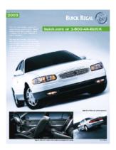 2003 Buick Regal Spec Sheet
