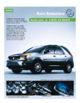 2003 Buick Rendezvous Spec Sheet