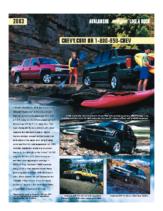2003 Chevrolet Avalanche Spec Sheet