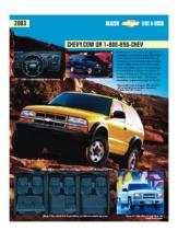 2003 Chevrolet Blazer Spec Sheet
