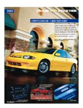 2003 Chevrolet Cavalier Spec Sheet
