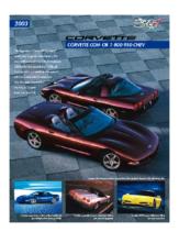 2003 Chevrolet Corvette Spec Sheet