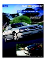 2003 Chevrolet Impala Spec Sheet