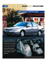 2003 Chevrolet Malibu Spec Sheet