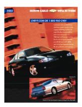 2003 Chevrolet Monte Carlo Spec Sheet