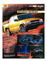 2003 Chevrolet S10 Spec Sheet