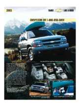 2003 Chevrolet Tahoe Spec Sheet