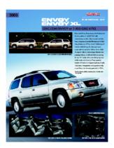 2003 GMC Envoy Spec Sheet