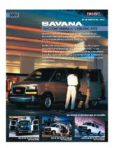 2003 GMC Savana Spec Sheet
